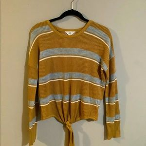 Pink Rose Striped Sweater Size Large